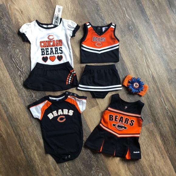 official photos f5264 7d727 girls chicago bears jersey